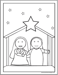 ✓ free for commercial use ✓ high quality images. 15 Printable Christmas Coloring Pages Jesus Mary Nativity Scenes