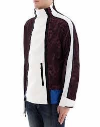 multicolor fabric anorak jacket