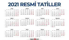 2021 Resmi Tatil Günleri! Ramazan Ve Kurban Bayramı Tatili Kaç Gün Olacak?  | Bi