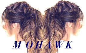 Quick Hairstyles For Braids Mohawk Pony Braid Hairstyle Cute Hairstyles For Medium Long