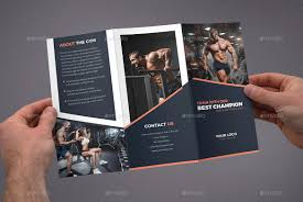 Gym Brochure Brochure Gym TriFold By Artbart GraphicRiver 1