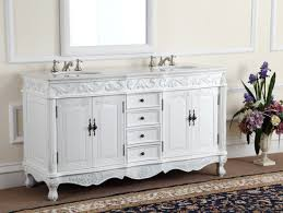 White Double Bathroom Vanities Adelina 64 Inch Antique White Double Bathroom Vanity Fully