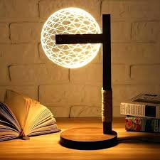 lamp stand table night lamp stand round ball wood stand lamp night light bedroom table desk
