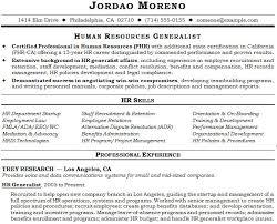 Hr Generalist Resume Skills