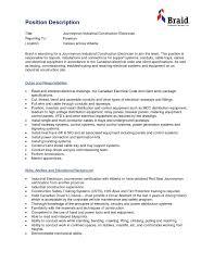 Electrician Resume Sample Industrial Electrician Job Description Unique Classy Industrial 24