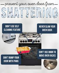 how can you prevent your glass oven door from shattering