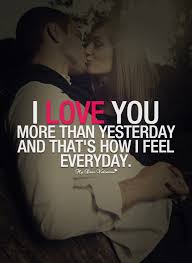 Love You More Quotes Delectable I Love You More Than Yesterday Sayings With Images