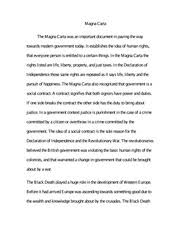 magna carta study resources 2 pages essay on the magna carta