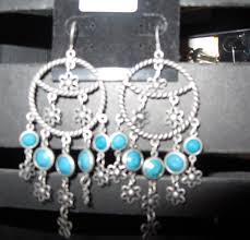 turquoise chandelier earrings hippie earrings
