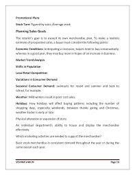 Visual Merchandiser Cover Letters Visual Marketing Plan Template
