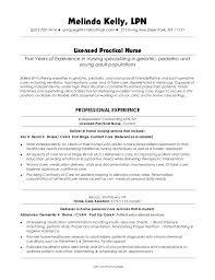Resume Template Licensed Practical Nurse Sample Resume Best