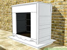 how to build fake fireplace image titled make a fake fireplace step 9 diy fake fireplace