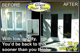 replace sliding glass door with french cost contemporary replacing doors creative of or intended for 13
