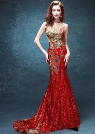 Elegant Long Chinese Wedding Dress Evening Gown Full Of Lace