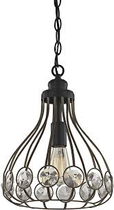 elk 81105 1 crystal web bronze gold matte black mini ceiling light pendant loading zoom