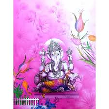 Peaceful Ganesh With Pink Background 0006 Card No Nice 174 Wedding Invitation Card