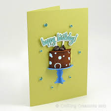 3d Coffee Cake Birthday Card Crafting Creatures