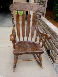 rustic rocking chairs beautiful refinishing a rocking chair between3sisters