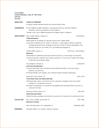 Sample Resume For Cabin Crew With No Experience Itacams