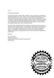 Country Club Letter Of Recommendation Magdalene Project Org