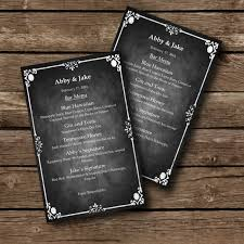 Event Menu Template Stunning Editable MENU Template Chalkboard Style Word Document Etsy