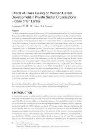 pdf effects of gl ceiling on women