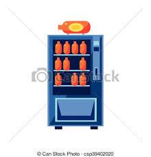 Vending Machine Cartoon Cool Soft Drink Vending Machine Design In Primitive Bright Cartoon Flat