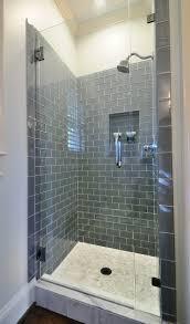 Blue Gray Subway Tile Shower