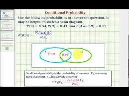 Probability Of A Given B Venn Diagram Ex 1 Determine A Conditional Probability Using A Venn