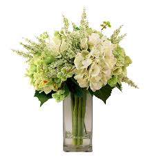 Creative Displays And Designs Inc Creative Displays Mixed Hydrangea Bouquet In Tall Squared Vase