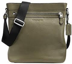 Coach Women Brown Genuine Leather Sling Bag