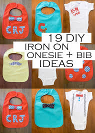 Decorate Baby Bibs Domestic Fashionista 19 Iron On Baby Onesie Bib Ideas