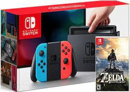 Shop bán Máy Chơi Game - Nintendo Switch Màu Xám và Xanh/Đỏ + Game Legend  of Zelda: Breath of the Wild