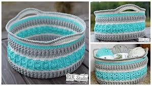 Free Crochet Basket Patterns Magnificent 48 Free Crochet Basket Patterns