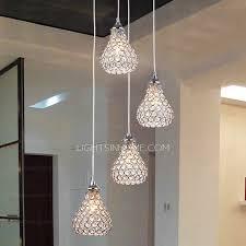 modern 4 light octagon bead bathroom pendant lights