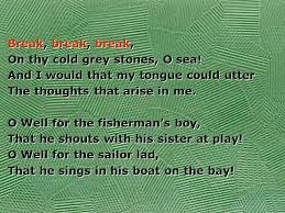break break break by alfred lord tennyson break break break 5 break
