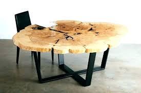 live edge round table urbanfarmco live edge dining table with resin live edge resin dining image 0 resin dining table