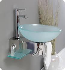 glass bathroom sinks. 18\u201d Fresca Cristallino (FVN1012) Modern Glass Bathroom Vanity W/ Frosted Vessel Sink Sinks A