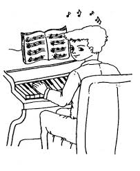 Muziek Instrumenten Pianist Kleurplaten