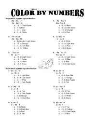 systems of equations elimination method worksheet answers