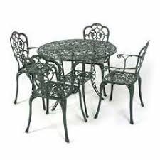 garden set. Ellister Stamford Juno 4 Seater Dining Set - Dark Green Garden