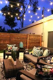 outdoor string lighting ideas best backyard lights on patio deck outdoor string lighting