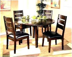 Image Apartment Laborsa Awesome Minimalism Interior Round Glass Dining Table Chairs Circular Room And For