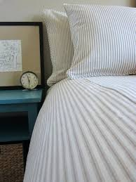 um image for tan patterned duvet covers ticking stripe duvet cover tan and yellow queen navy