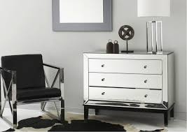 Furniture Dresser Tar Mirrored Furniture With 3 Drawers For