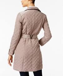 Cole Haan Signature Quilted Belted Coat - Coats - Women - Macy's & Image 2 of Cole Haan Signature Quilted Belted Coat Adamdwight.com