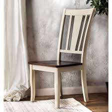 Furniture of America Betsy Jane Country Style 2 Tone Dining Chair