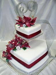Heart Shaped Wedding Anniversary Cakes Fancy Cakes Wedding Cakes