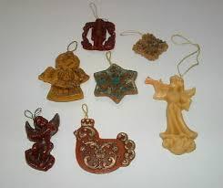 7 X Alter Christbaumschmuck Ornamente Wachs Wachsfiguren