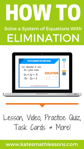 how do you solve a system of linear equations with the elimination method check out